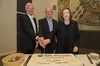 Professor Bill Charman, Professor Colin Chapman and Professor Margret Gardner AO
