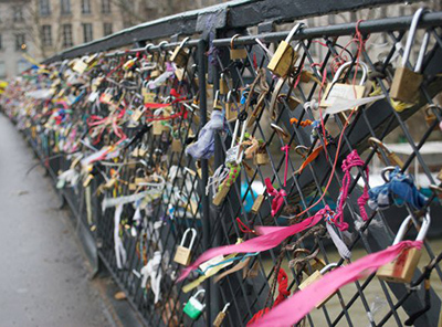 locks on notre dame bridge paris