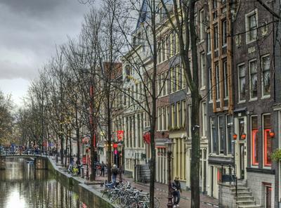 Along the canal in De Wallen, Amsterdam.