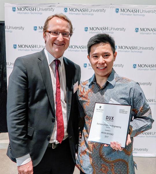 Arvin Wiyono awarded Dux of Undergraduate
