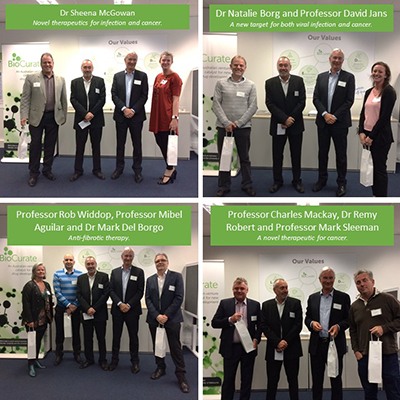 Nine researchers from the Monash BDI are involved in four (of six) successful projects announced by BioCurate last week.