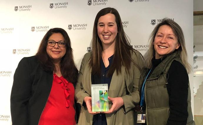 Sabrina Constantin, Dr Gabrielle Watson and Dr Erica Tandori.