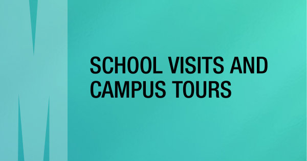 school visits and campus tours button