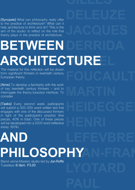 Between Architecture and Philosophy