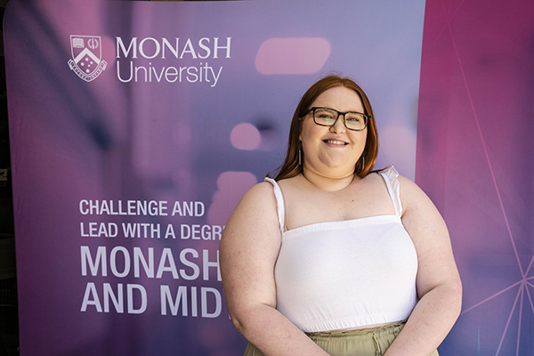 Bachelor of Nursing and Bachelor of Midwifery graduate Emily Hammond