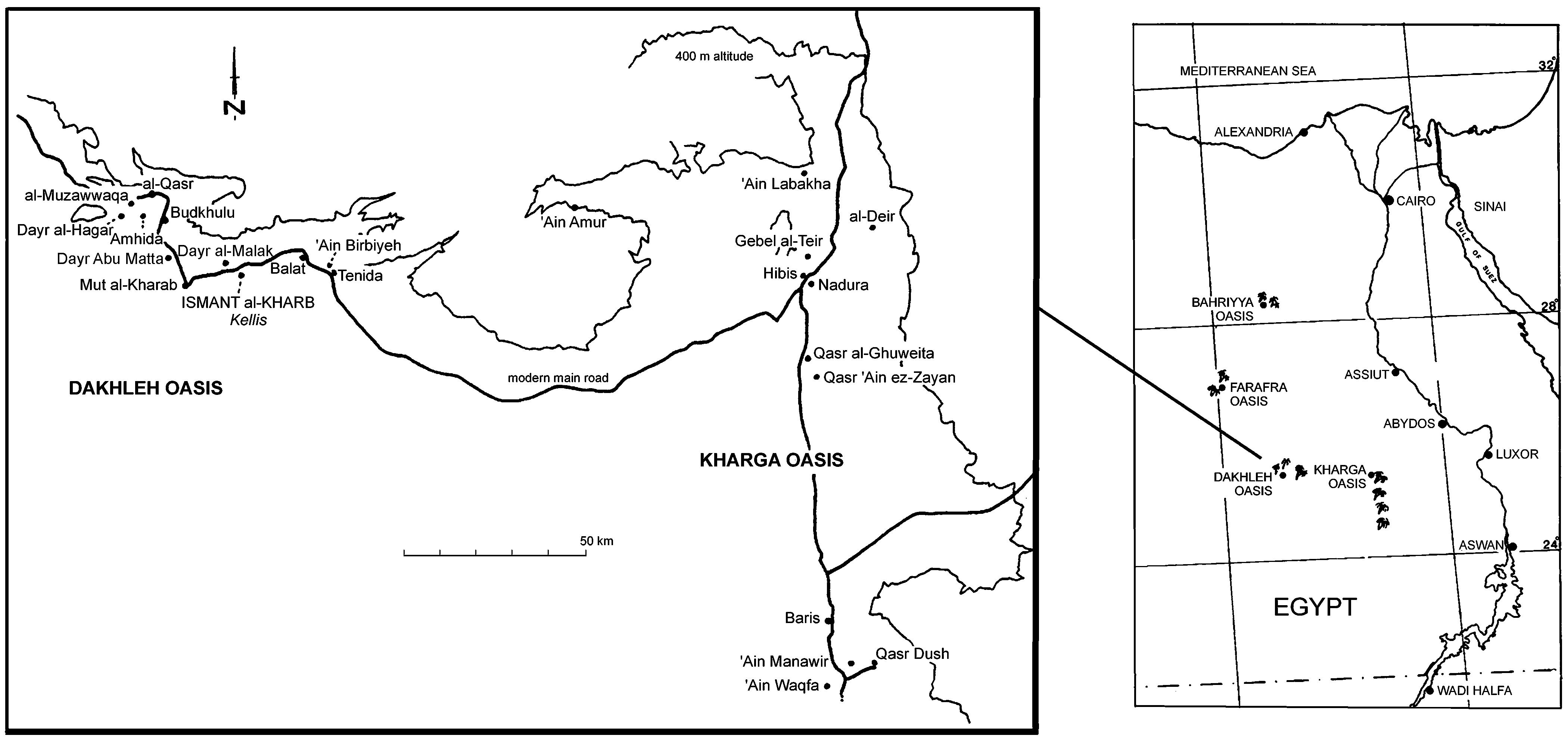 Oasis Egypt Map 2019