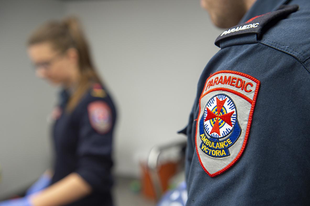 Ambulance Victoria paramedic in uniform