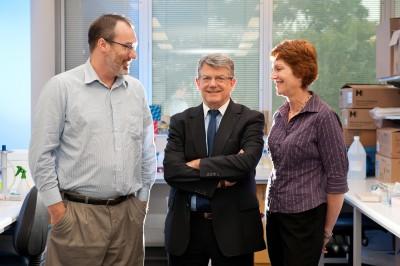 Dr Andrew Laslett, Professor Claude Bernard and Dr Carmel O\'Brien