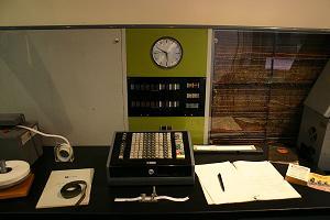 Operators station on the Ferranti Sirius computer