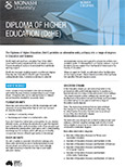 Diploma of Higher Education brochure 2015