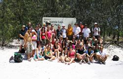 Group on field trip