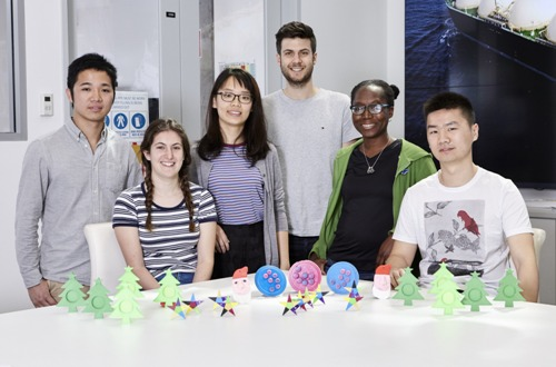 PhD students recently donated their time to create 3D printed Christmas ornaments
