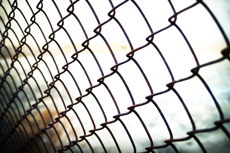 chain linked fence up close