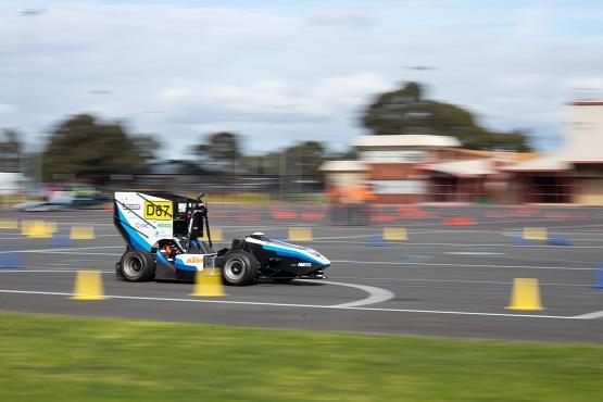 Monash Motorsport's driverless race car, the M19-D