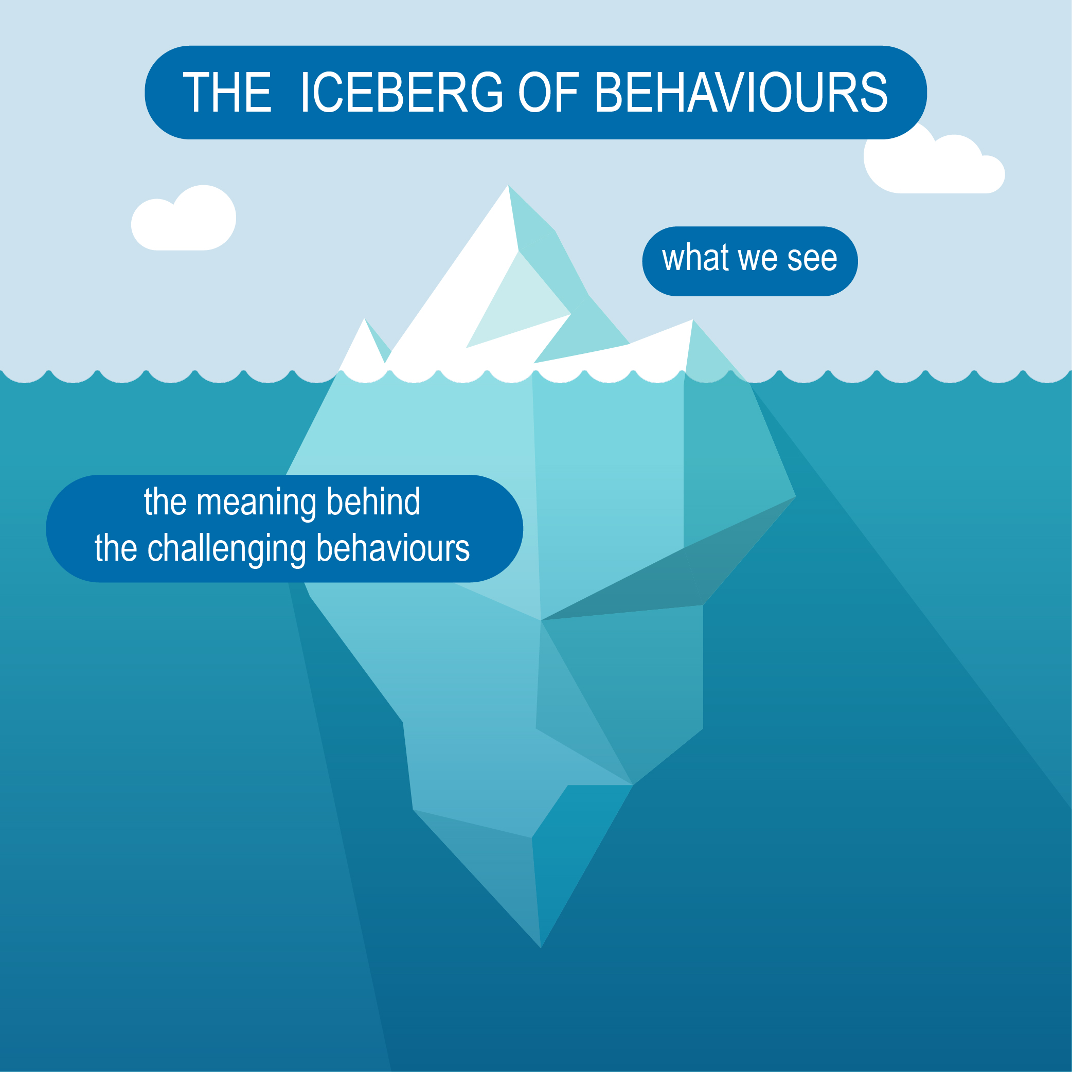 The iceberg of behaviours