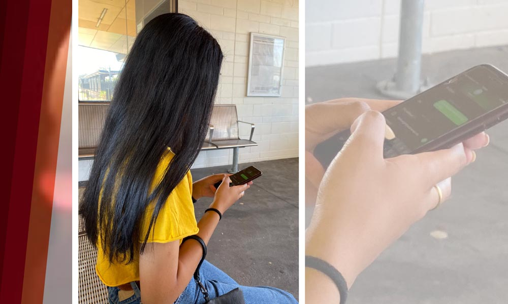 Girl using a mobile