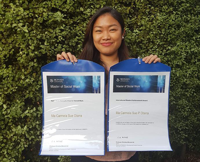 Master of Social Work student Carmela Otarra