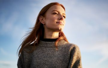 Girl with sky