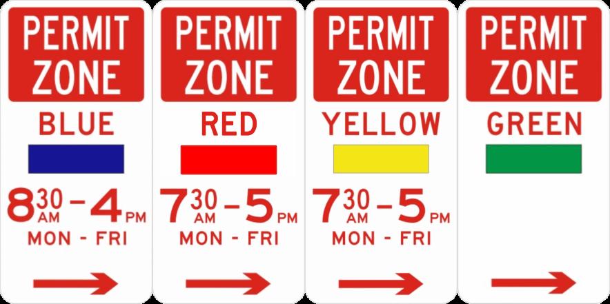 Permit Zone signs