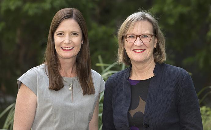 Associate Professor Renea Taylor and Professor Gail Risbridger.