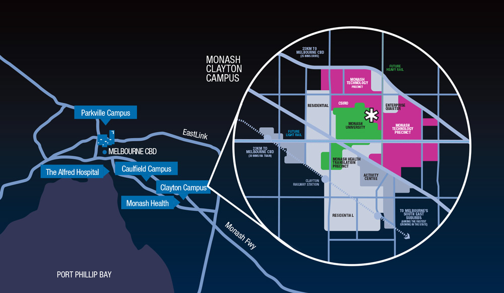 map of tech precinct