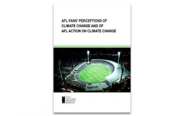 Cover of report AFL Fans Perceptions of Climate Change and of AFL Action on Climate Change