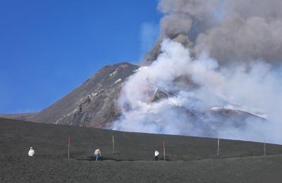 A smouldering Mount Etna. Image courtesy: Sebastien Litrico