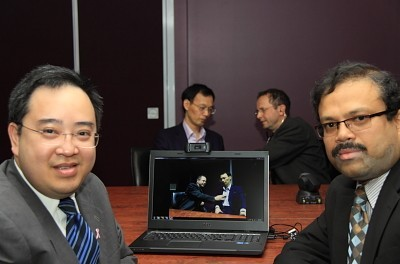 L to R: Associate Professor Elmer Villanueva, Professor Guojun Lu, Dr James Brown and Associate Professor Manzur Murshed