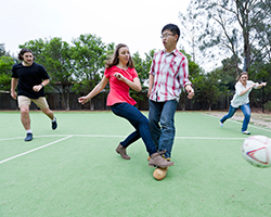 residents playing sports