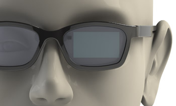 diagram of person wearing glasses