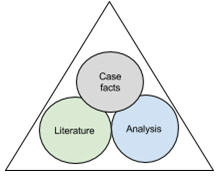 Three elements in a case study assignment
