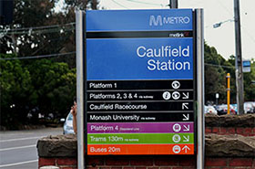 caulfield station sign