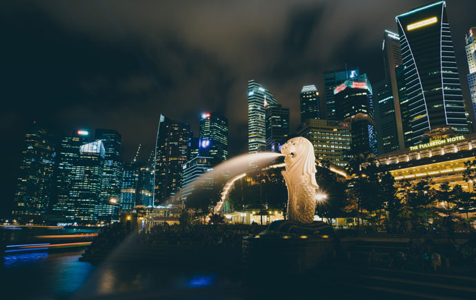 Singapore CBD and fountain