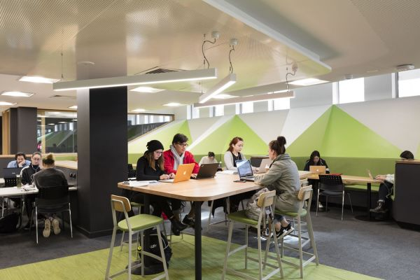 Study spaces, lower ground