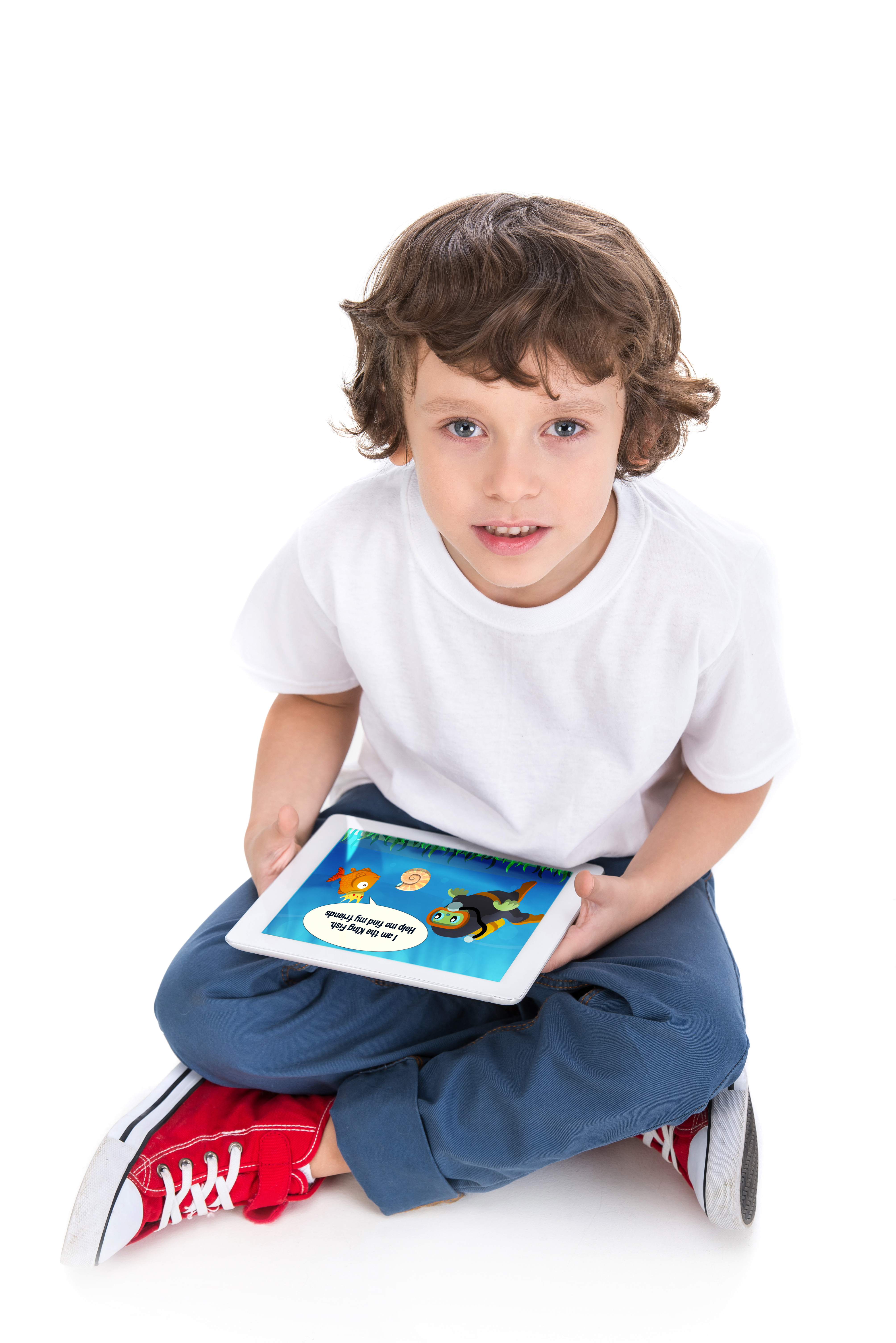 Boy with tablet_image