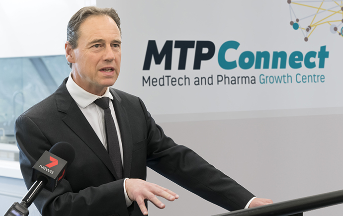 The Federal Minister for Health, the Hon Greg Hunt MP, visited Monash to make this funding announcement.