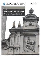 Monash Law School 2010 report cover