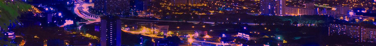 Kuala Lumpur at night purple