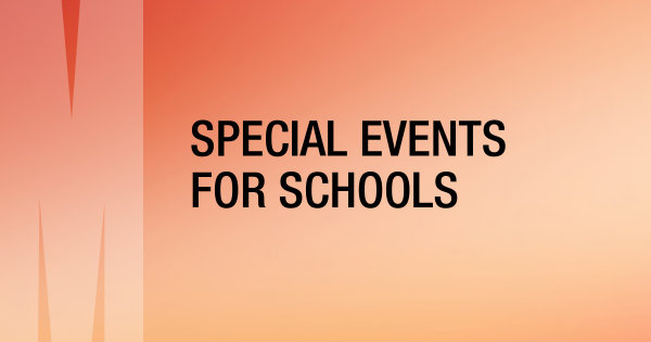 Special events for schools button