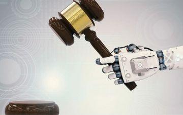 robot holding a hammer