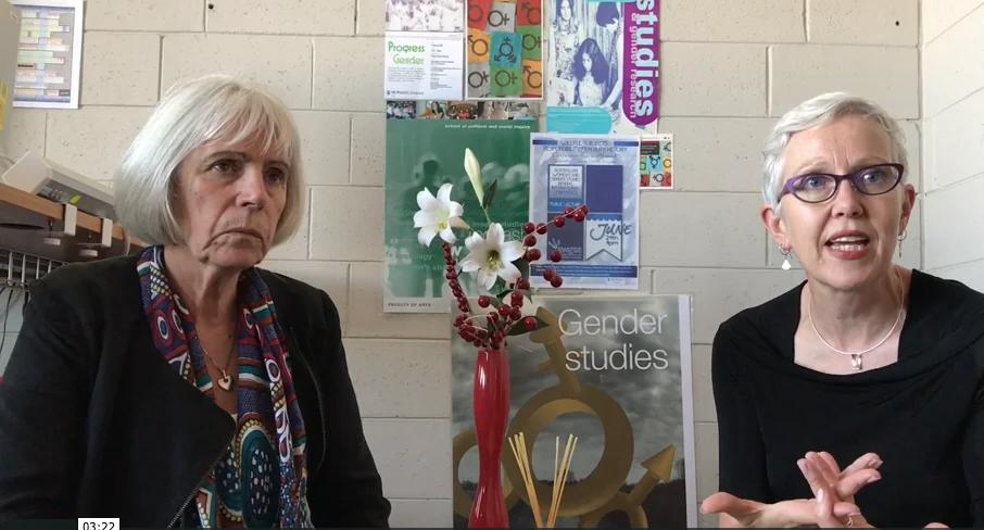 Professors JaneMaree Maher and Sandra Walklate