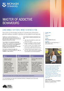 Master of Addictive Behaviours flyer image