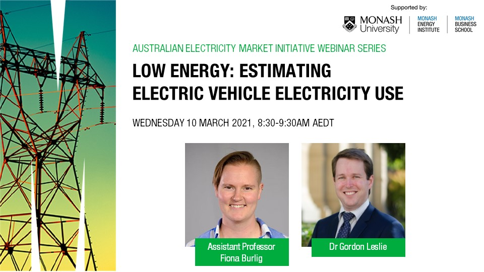 Webinar | Low energy: estimating electric vehicle electricity use