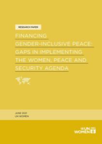 Report: Financing gender-inclusive peace