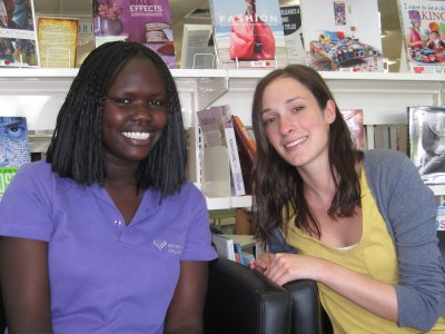 Jenni Mandel (r) and her student Dorcas