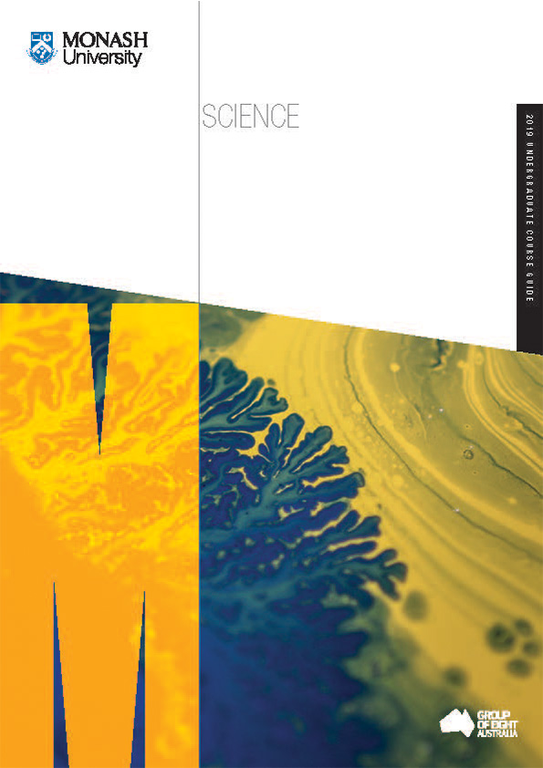 monash science undergraduate course guide cover