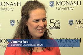 Monash student testimonials - Jemima Roe