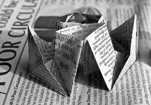origami newspaper