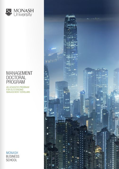 Management doctoral program brochure