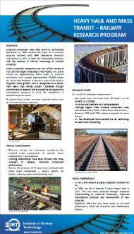 Projects - Monash Institute of Railway Technology
